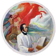 Composer Felix Mendelssohn Round Beach Towel