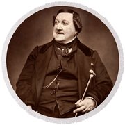 Composer Rossini Round Beach Towel