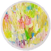 Composition Spring Round Beach Towel