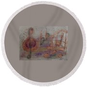 Composition In B Flat Round Beach Towel