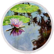 Composition Of Beauty Round Beach Towel