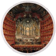 Concert Given By Cardinal De La Rochefoucauld At The Argentina Theatre In Rome Round Beach Towel