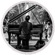 Concert In The Park Round Beach Towel