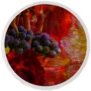 Concord Tendrils Round Beach Towel
