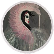 Concrete Angel Round Beach Towel