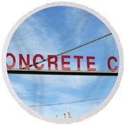 Concrete Company Round Beach Towel