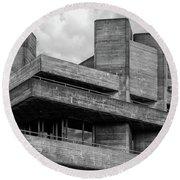 Concrete - National Theatre - London Round Beach Towel