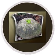 Concrete Toad Stool Round Beach Towel