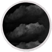 Condensed Noir Round Beach Towel