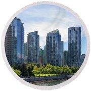 Condominium Waterfront Living In Vancouver Bc Round Beach Towel