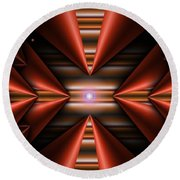 Cone Red Convergence Round Beach Towel
