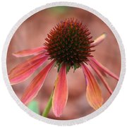Coneflower Round Beach Towel