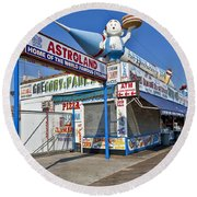 Coney Island Memories 11 Round Beach Towel