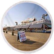 Coney Island Memories 7 Round Beach Towel