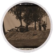 Confederate Artillery Battery Round Beach Towel