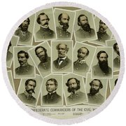 Confederate Commanders Of The Civil War Round Beach Towel