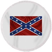 Confederate Flag - Second Confederate Navy Jack And The Battle Flag Of Northern Virginia Round Beach Towel