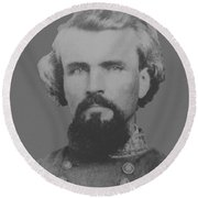 Confederate General Nathan Forrest Round Beach Towel by War Is Hell Store