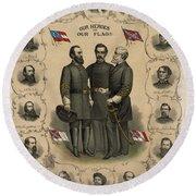 Confederate Generals Of The Civil War Round Beach Towel