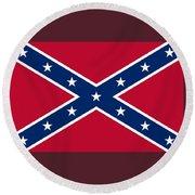 Confederate Naval Jack Flag Round Beach Towel