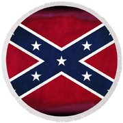 Confederate Rebel Battle Flag Round Beach Towel