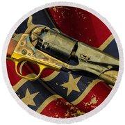 Confederate Sidearm Round Beach Towel