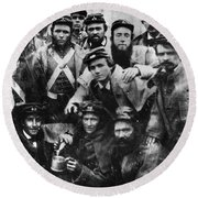 Confederate Soldiers, 1861 - To License For Professional Use Visit Granger.com Round Beach Towel