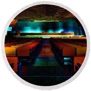Conference Hall Luoghi Abbandonati Delle Passeggiate A Levante Sala Congressi Round Beach Towel by Enrico Pelos