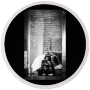 Confidently Lost - Immortal Beloved Love Letter Round Beach Towel