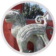 Confucius Temple Phoenix  Round Beach Towel