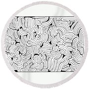 Confusion Round Beach Towel