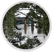 Congaree River Glimpse Round Beach Towel