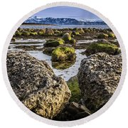 Conglomerate Boulders, Green Point, Nl Round Beach Towel