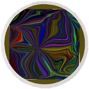 Conglomerate Of The Color Wheel Round Beach Towel