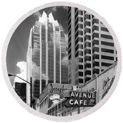 Congress Avenue Vista Round Beach Towel