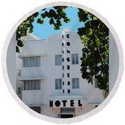 Congress Hotel Round Beach Towel
