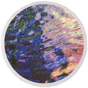 Congruent Forces Round Beach Towel