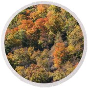 Connecticut Fall Color Round Beach Towel