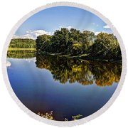 Connecticut River Round Beach Towel
