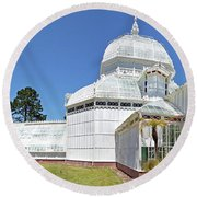 Conservatory Of Flowers Round Beach Towel