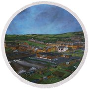 Consett, Blackhill, County Durham Round Beach Towel