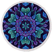 Consider The Lilies  Round Beach Towel