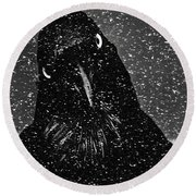 Conspiracy In The Snow Round Beach Towel
