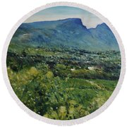 Constantia Valley Cape Town South Africa 2017 Round Beach Towel