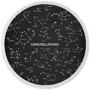 Constellations Round Beach Towel