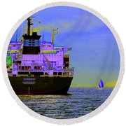 Container Sail Round Beach Towel