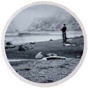 Contemplation - Beach - California Round Beach Towel