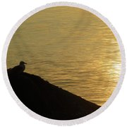 Contemplation II Round Beach Towel