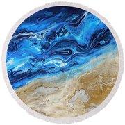 Contemporary Abstract Beach Nacl Round Beach Towel