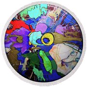 Contemporary Art - Abstract In The Round  Round Beach Towel